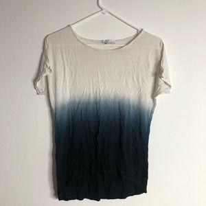 Blue ombré shirt